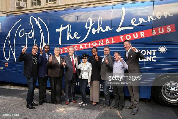 Brian Rothschild founder The John Lennon Educational Tour Bus Mary Luehrsen Executive Director NAMM Foundation musician Yoko Ono Barbara Murray...
