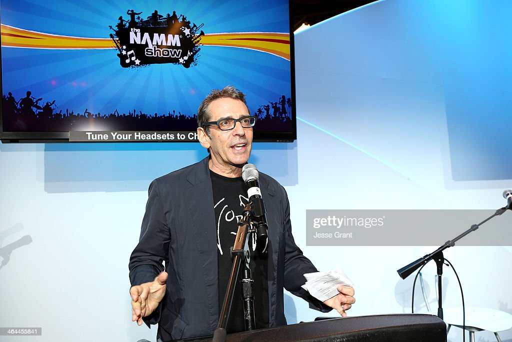 Brian Rothschild of the John Lennon Foundation attends the 2014 National Association of Music Merchants show media preview day at the Anaheim Convention Center on January 22, 2014 in Anaheim, California.