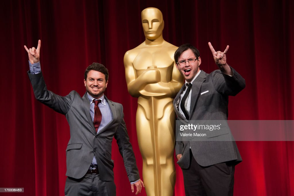 Brian Schwarz and Kevin Herron attends The Academy Of Motion Picture Arts And Sciences' 40th Annual Student Academy Awards Ceremony at AMPAS Samuel...