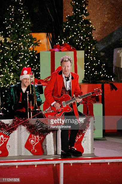 Brian Setzer during 73rd Annual Tree Lighting Ceremony at Rockefeller Center at Rockefeller Center in New York New York United States