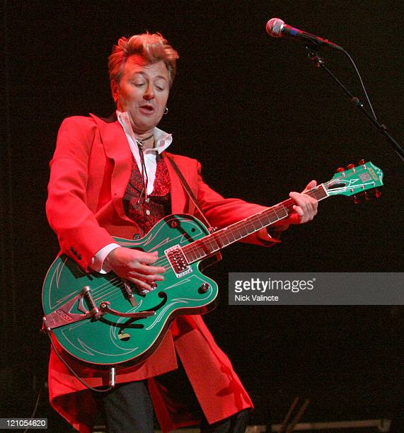 Brian Setzer during The Brian Setzer Orchestra in Concert at The House of Blues in Atlantic City November 25 2005 at The House of Blues in Atlantic...