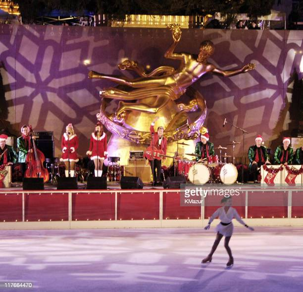 Brian Setzer Orchestra during The 73rd Annual Rockefeller Center Tree Lighting Ceremony at Rockefeller Center in New York New York United States