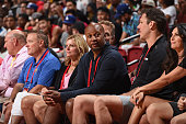Brian Shaw and Los Angeles Lakers head coach Luke Walton attend the game between the Golden State Warriors and Los Angeles Lakers during the 2016 NBA...