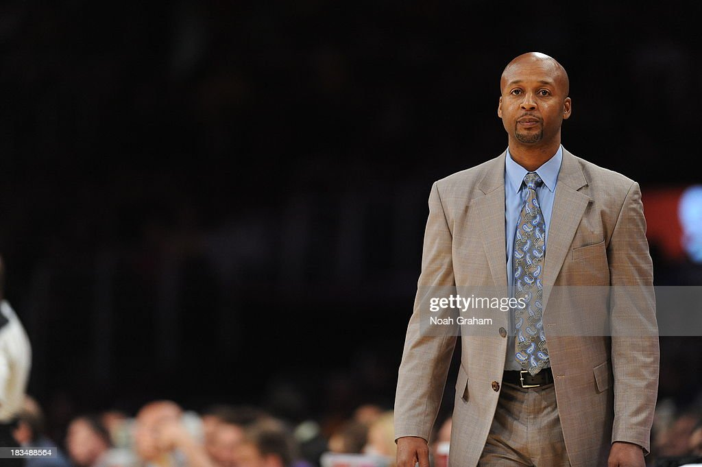 Brian Shaw, Head Coach of the Denver Nuggets looks on during a game against the Los Angeles Lakers at STAPLES Center on October 10, 2013 at in Los Angeles, California.