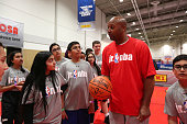 Brian Shaw instructs drills during the Jr NBA Day as part of 2016 AllStar Weekend at NBA Centre Court of the Enercare Centre on February 12 2016 in...