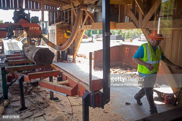 Brian Souers the president of Treeline Inc walks past the sawmill and into the control room His company is one of the companies that depended on the...