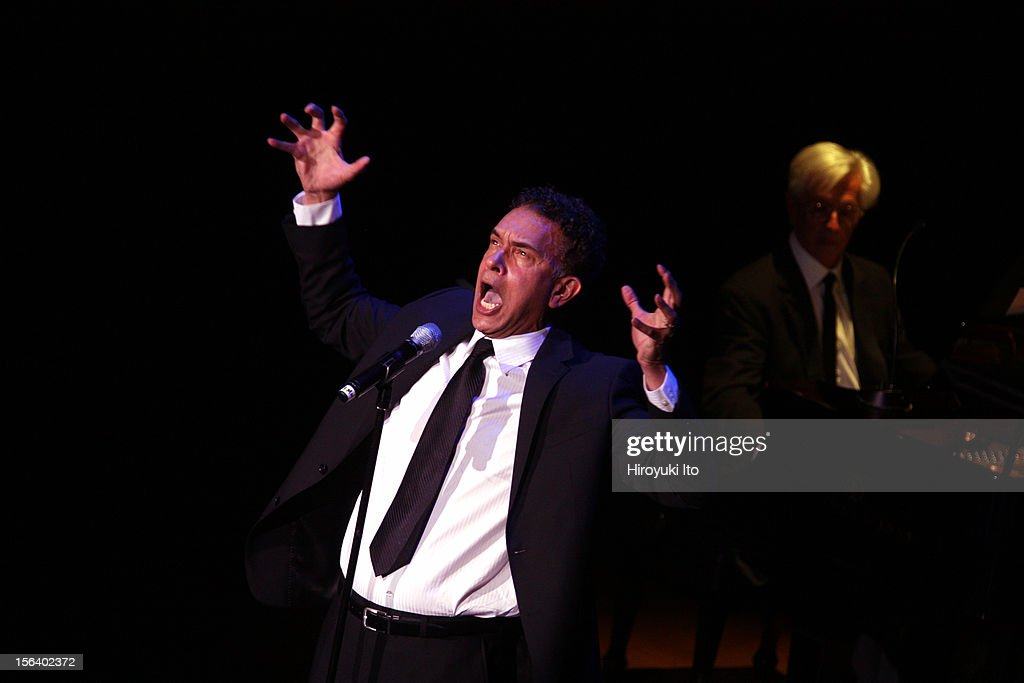 Brian Stokes Mitchell, accompanied by Marvin Laird on piano, performing in 'Simply Broadway' at Alice Tully Hall on Wednesday night, November 7, 2012.