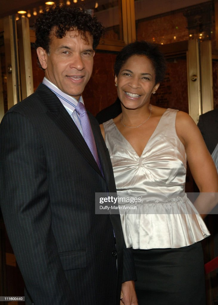 Brian Stokes Mitchell and Allison Mitchell during National Theatre's Coram Boy Opening - Arrivals and Curtain Call at Imperial Theatre in New York City, New York, United States.