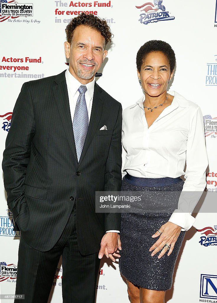 <a gi-track='captionPersonalityLinkClicked' href=/galleries/search?phrase=Brian+Stokes+Mitchell&family=editorial&specificpeople=213301 ng-click='$event.stopPropagation()'>Brian Stokes Mitchell</a> and Allison Tucker attend after party for The Actors Fund Gala Celebrating 20 Years Of Disney On Broadway at The New York Marriott Marquis on April 28, 2014 in New York City.