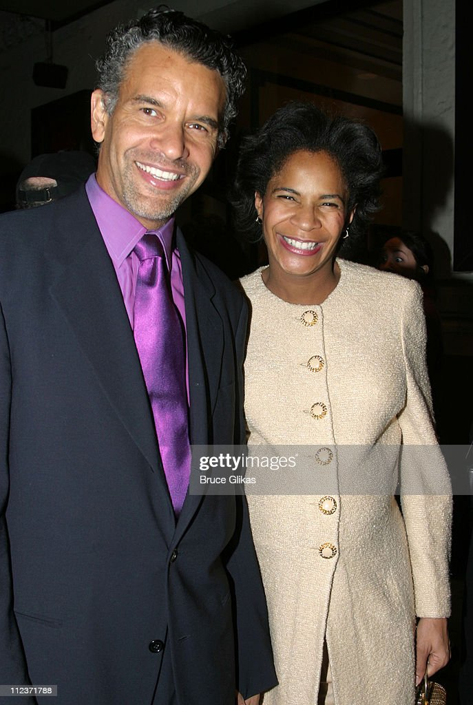<a gi-track='captionPersonalityLinkClicked' href=/galleries/search?phrase=Brian+Stokes+Mitchell&family=editorial&specificpeople=213301 ng-click='$event.stopPropagation()'>Brian Stokes Mitchell</a> and wife Allyson Tucker during Opening Night of 'Oldest Living Confederate Widow Tells All' on Broadway and After-Party at The Longacre Theater and The Supper Club in New York City, New York, United States.
