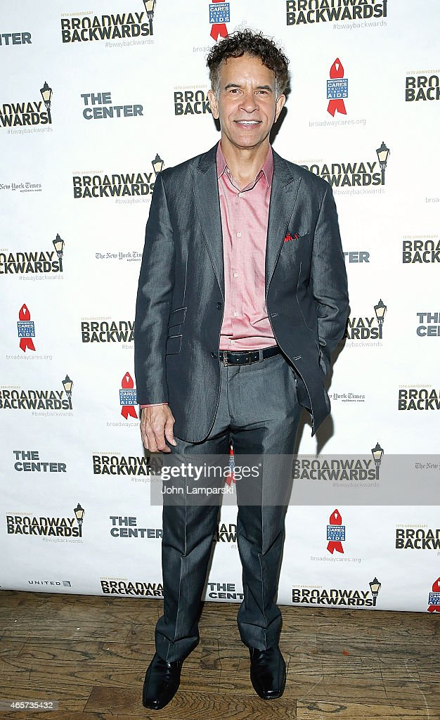 Brian Stokes Mitchell attends 10th Anniversary of Broadway Backwards at John's on March 9, 2015 in New York City.