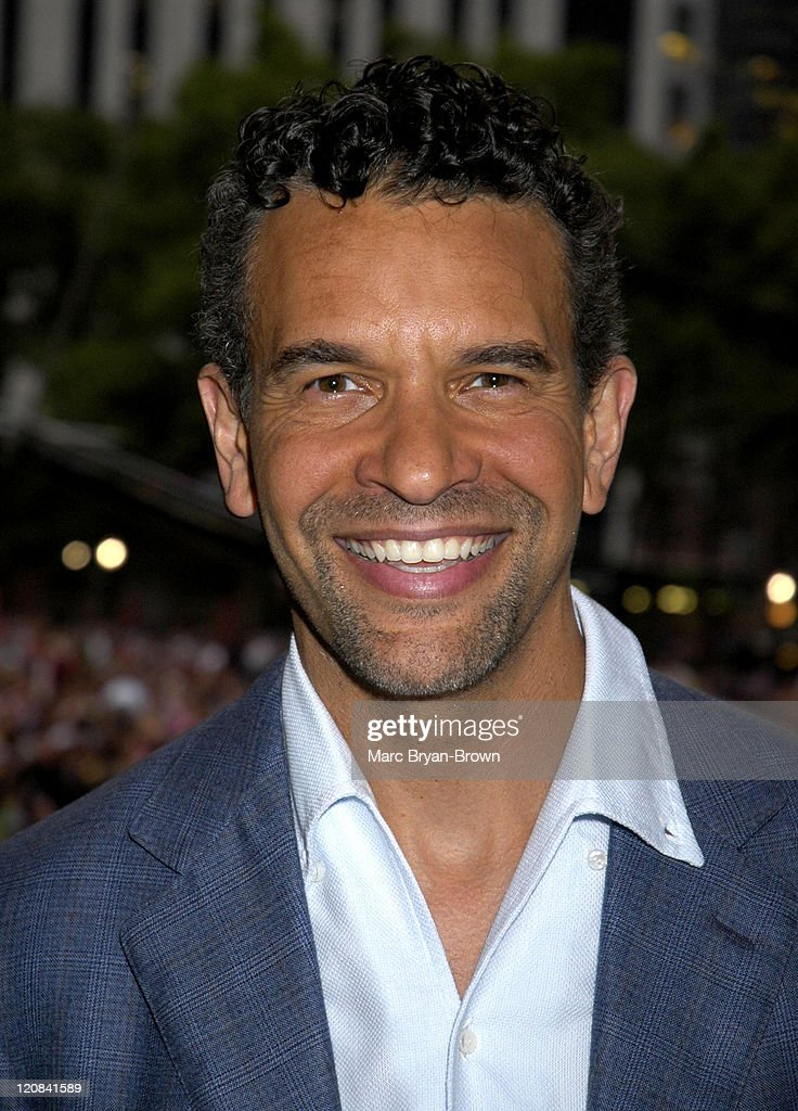<a gi-track='captionPersonalityLinkClicked' href=/galleries/search?phrase=Brian+Stokes+Mitchell&family=editorial&specificpeople=213301 ng-click='$event.stopPropagation()'>Brian Stokes Mitchell</a> during Broadway Under The Stars at Bryant Park, New York in New York, NY, United States.