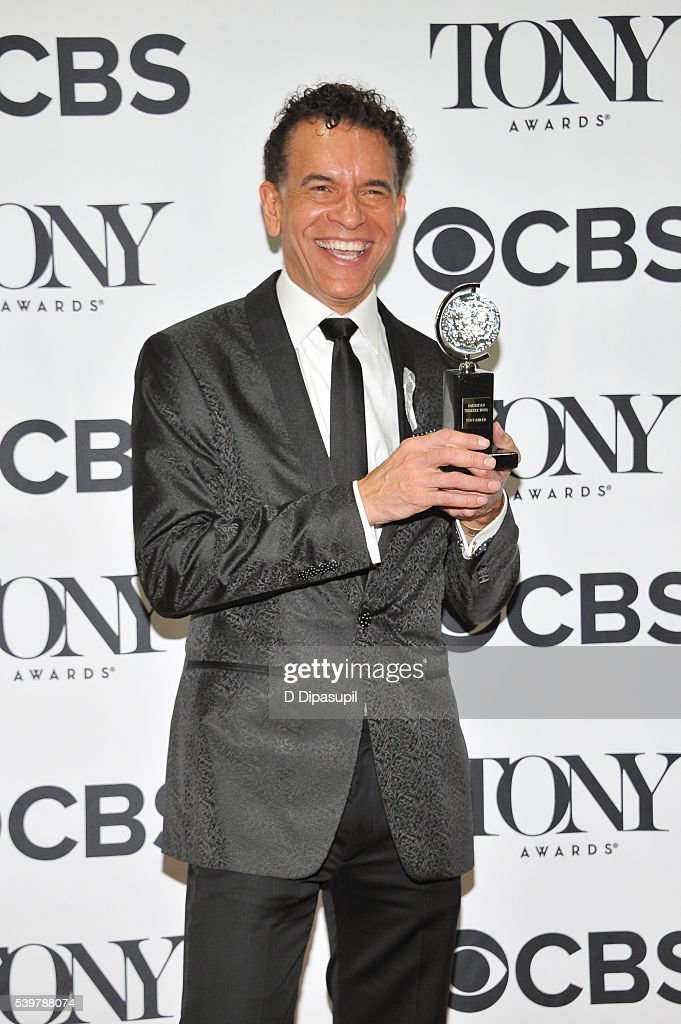 <a gi-track='captionPersonalityLinkClicked' href=/galleries/search?phrase=Brian+Stokes+Mitchell&family=editorial&specificpeople=213301 ng-click='$event.stopPropagation()'>Brian Stokes Mitchell</a> poses in the press room with his award at the 70th Annual Tony Awards at the Beacon Theatre on June 12, 2016 in New York City.