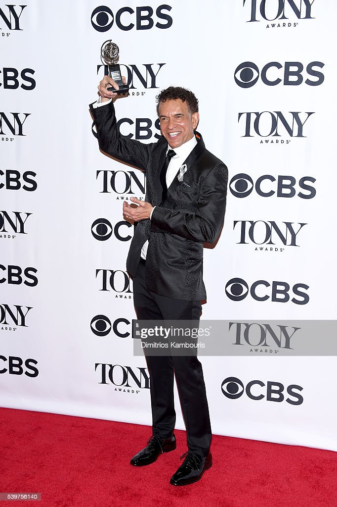 <a gi-track='captionPersonalityLinkClicked' href=/galleries/search?phrase=Brian+Stokes+Mitchell&family=editorial&specificpeople=213301 ng-click='$event.stopPropagation()'>Brian Stokes Mitchell</a> poses with his Isabelle Stevenson Tony Award at the 70th Annual Tony Awards at The Beacon Theatre on June 12, 2016 in New York City.