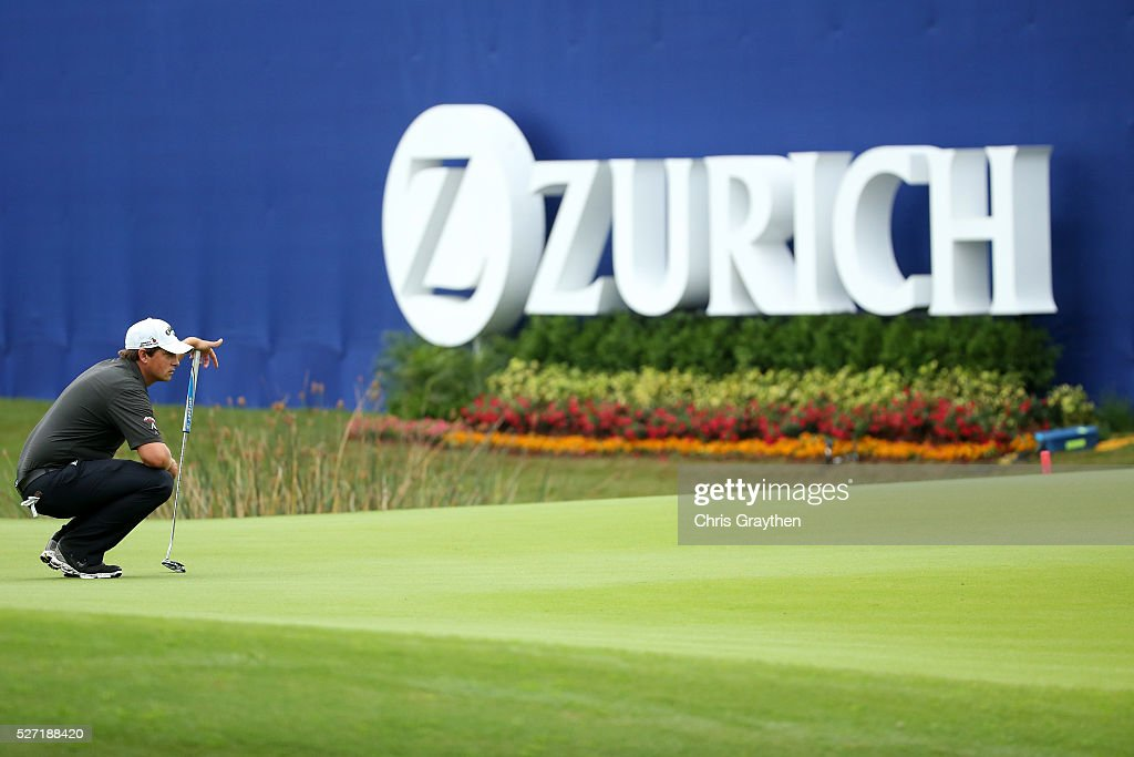 <a gi-track='captionPersonalityLinkClicked' href=/galleries/search?phrase=Brian+Stuard&family=editorial&specificpeople=5409526 ng-click='$event.stopPropagation()'>Brian Stuard</a> lines up a putt on the 9th green during a continuation of the third round of the Zurich Classic at TPC Louisiana on May 2, 2016 in Avondale, Louisiana.