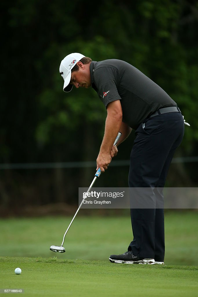 <a gi-track='captionPersonalityLinkClicked' href=/galleries/search?phrase=Brian+Stuard&family=editorial&specificpeople=5409526 ng-click='$event.stopPropagation()'>Brian Stuard</a> makes a putt on the 7th hole during a continuation of the third round of the Zurich Classic at TPC Louisiana on May 2, 2016 in Avondale, Louisiana.
