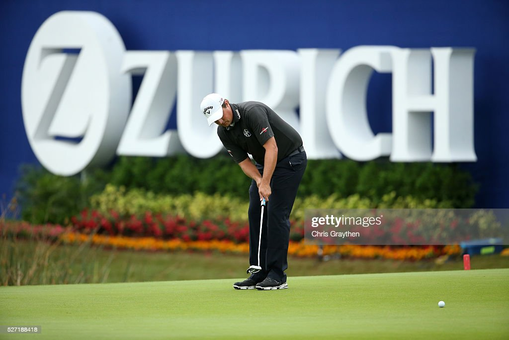 <a gi-track='captionPersonalityLinkClicked' href=/galleries/search?phrase=Brian+Stuard&family=editorial&specificpeople=5409526 ng-click='$event.stopPropagation()'>Brian Stuard</a> makes a putt on the 9th green during a continuation of the third round of the Zurich Classic at TPC Louisiana on May 2, 2016 in Avondale, Louisiana.