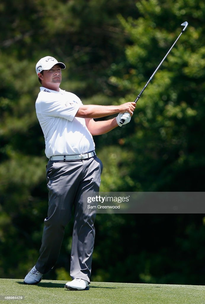 <a gi-track='captionPersonalityLinkClicked' href=/galleries/search?phrase=Brian+Stuard&family=editorial&specificpeople=5409526 ng-click='$event.stopPropagation()'>Brian Stuard</a> of the United States watches his approach shot on the 14th hole during the second round of THE PLAYERS Championship on The Stadium Course at TPC Sawgrass on May 9, 2014 in Ponte Vedra Beach, Florida.