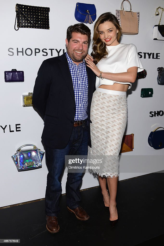 Brian Sugar and <a gi-track='captionPersonalityLinkClicked' href=/galleries/search?phrase=Miranda+Kerr&family=editorial&specificpeople=5714330 ng-click='$event.stopPropagation()'>Miranda Kerr</a> attend the launch of We Search. We Find. We ShopStyle on February 3, 2014 in New York City.