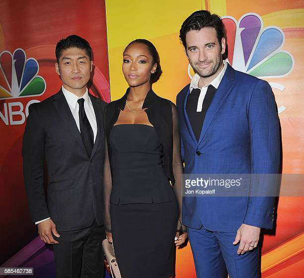 Brian Tee Yaya DaCosta and Colin Donnell arrive at the 2016 Summer TCA Tour NBCUniversal Press Tour Day 1 at The Beverly Hilton Hotel on August 2...