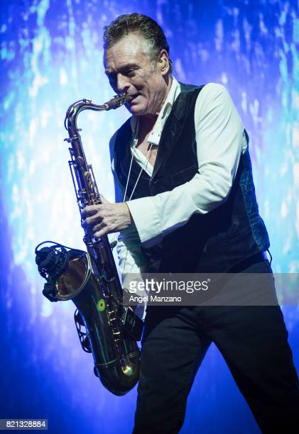 Brian Travers of UB40 performs on stage at Noches del Botanico on July 23 2017 in Madrid Spain