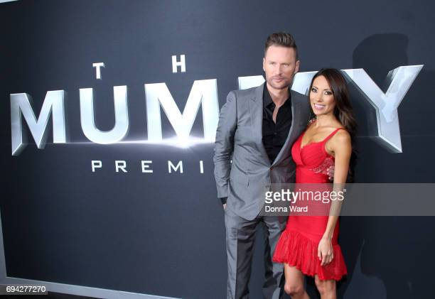 Brian Tyler and Sofie McCue attend 'The Mummy' Fan Event at AMC Loews Lincoln Square on June 6 2017 in New York City