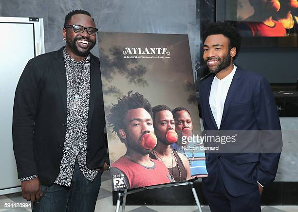 Brian Tyree Henry and Donald Glover attend the 'Atlanta' New York Screening at The Paley Center for Media on August 23 2016 in New York City