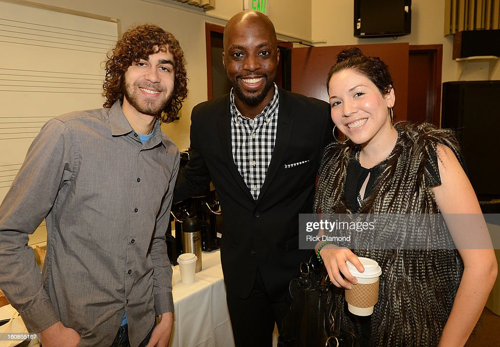 Brian Vinikoor, George '2.0' Peters, and Diana Beas attend The 55th Annual GRAMMY Awards - GRAMMY Camp Basic Training held on the campus of USC - Booth Ramos Hall on February 6, 2013 in Los Angeles, California.