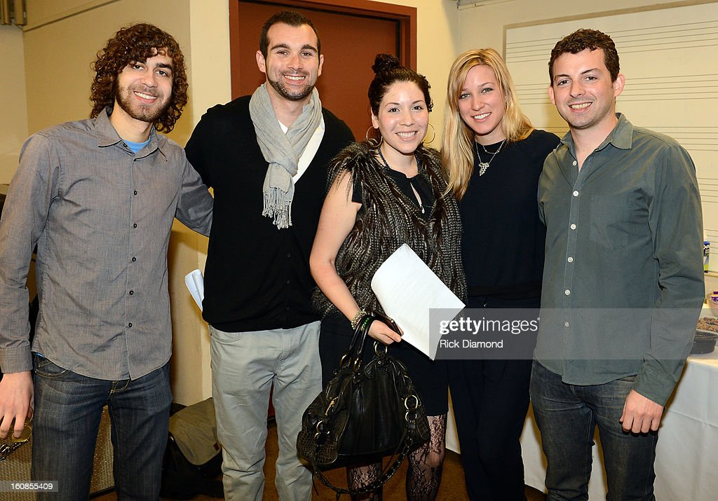 Brian Vinikoor, Ryan Chisholm, Diana Beas, Avital Ferd and Rob Bonstein attend The 55th Annual GRAMMY Awards - GRAMMY Camp Basic Training held on the campus of USC - Booth Ramos Hall on February 6, 2013 in Los Angeles, California.