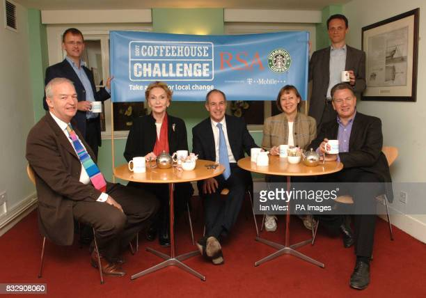 Brian Waring marketing director of Starbucks and Matthew Taylor RSA chief exectutive Jon Snow with Sian Phillips Loyd Grossman Jenny Agutter and...