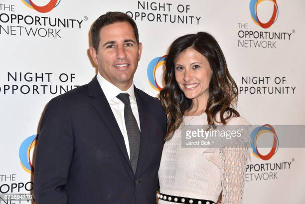 Brian Weinstein and Nora Weinstein attend The Opportunity Network's 10th Annual Night of Opportunity Gala at Cipriani Wall Street on April 24 2017 in...