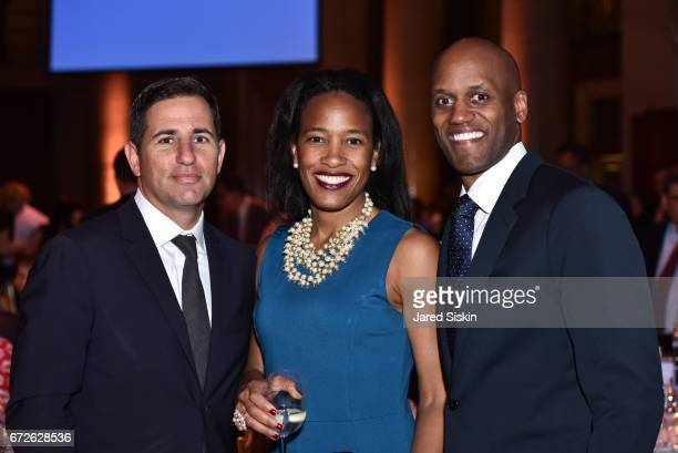 Brian Weinstein Janet Baudin and Alex Baudin attend The Opportunity Network's 10th Annual Night of Opportunity Gala at Cipriani Wall Street on April...