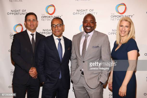 Brian Weinstein Sean Cohan Will Packer and Jessica Pliska attend The Opportunity Network's 10th Annual Night of Opportunity Gala at Cipriani Wall...