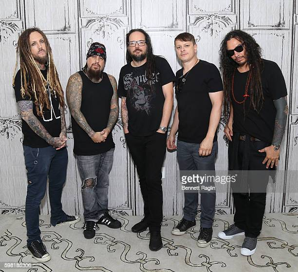 Brian Welch Reggie Arvizu Jonathan Davis Ray Luzier and James Murky Shaffer attend the BUILD Series presents Korn discusses 'The Serenity of...