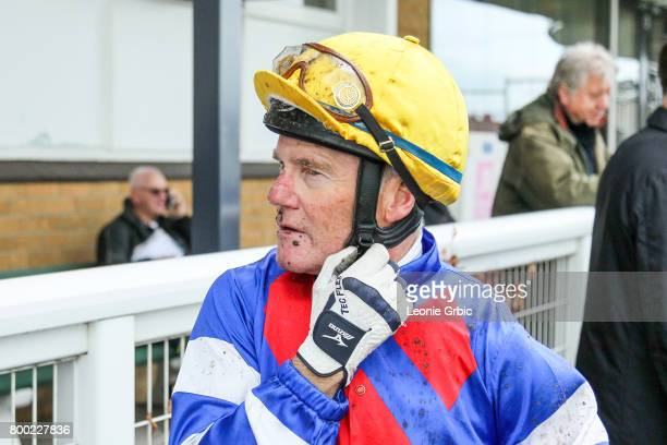 Brian Werner after winning the First National Real Estate 3YO Maiden Plate at Moe Racecourse on June 24 2017 in Moe Australia