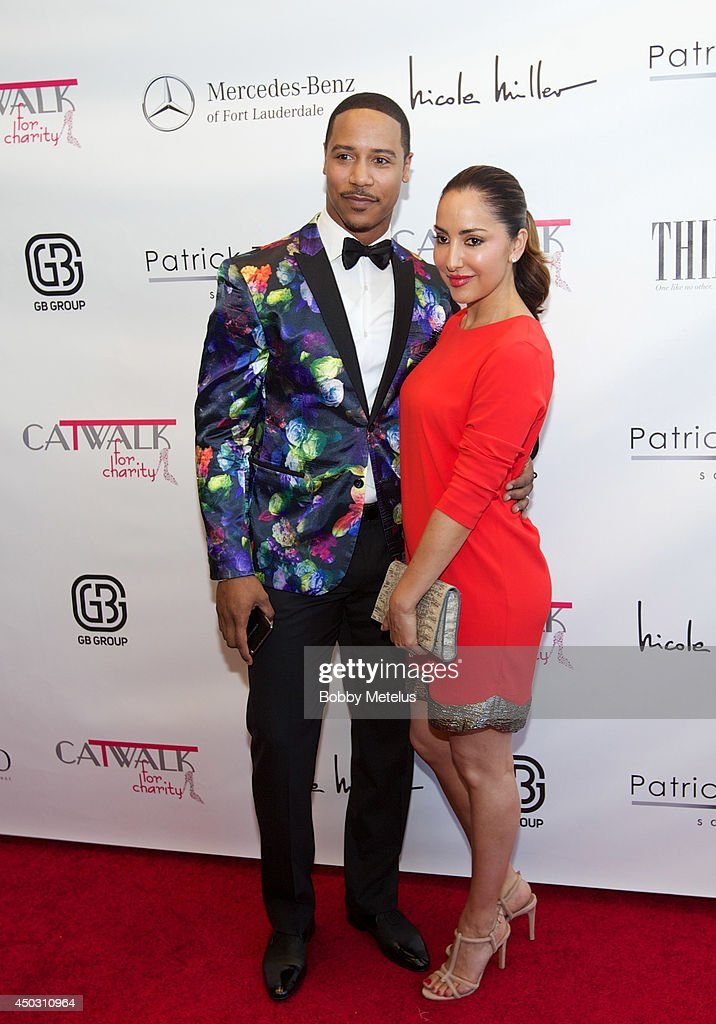 Brian White and Paula Da Silva attends the Catwalk for Charity 2014 fundrasing event at JW Marriott Marquis on June 8, 2014 in Miami, Florida.