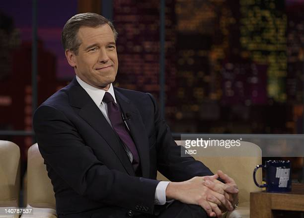 LENO Brian Williams Air Date 2/8/08 Episode 3494 Pictured Anchor and Managing Editor Brian Williams of 'NBC Nightly News with Brian Williams' during...