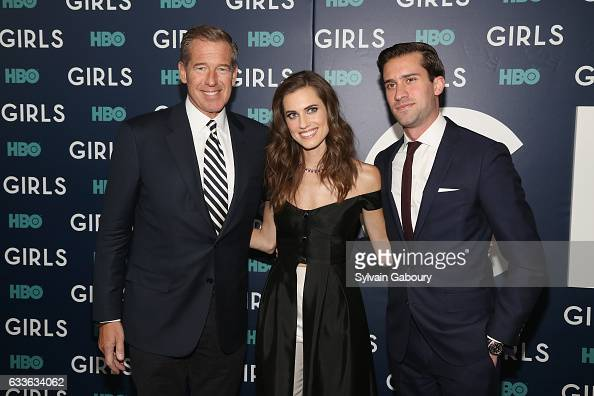 Brian Williams Allison Williams and Douglas Williams attend The New York Premiere of the Sixth Final Season of 'Girls' at Alice Tully Hall on...