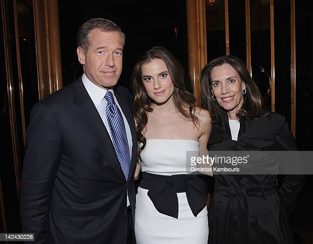 Brian Williams Allison Williams and Jane Stoddard Williams attend the after party for the HBO with the Cinema Society New York premiere of HBO's...
