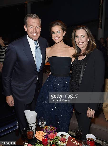 Brian Williams Allison Williams and Jane Stoddard Williams attend the 'Girls' season four series premiere after party at The Museum of Natural...