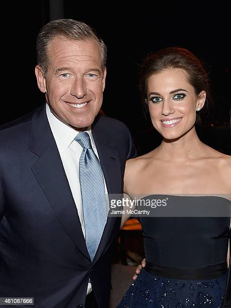 Brian Williams and Allison Williams attend the 'Girls' season four series premiere after party at The Museum of Natural History on January 5 2015 in...
