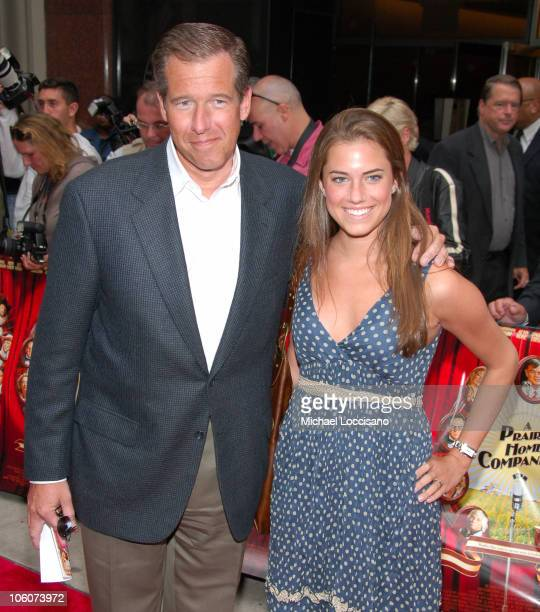 Brian Williams and Daughter Allison Williams during 'A Prairie Home Companion' New York Premiere Afterparty at Hudson Hotel in New York City New York...
