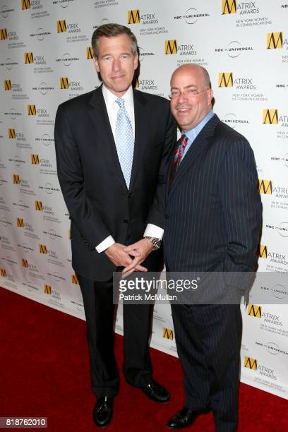 Brian Williams and Jeff Zucker attend New York WOMEN IN COMMUNICATIONS Presents The 2010 MATRIX AWARDS at Waldorf Astoria on April 19 2010 in New...