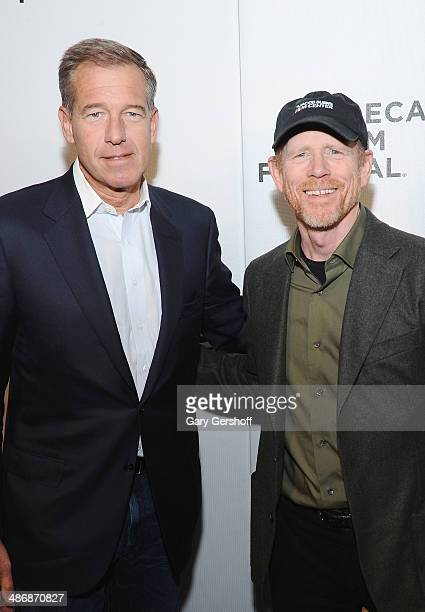 Brian Williams and Ron Howard attend Tribeca Talks Director's Series Ron Howard during the 2014 Tribeca Film Festival at BMCC Tribeca PAC on April 26...