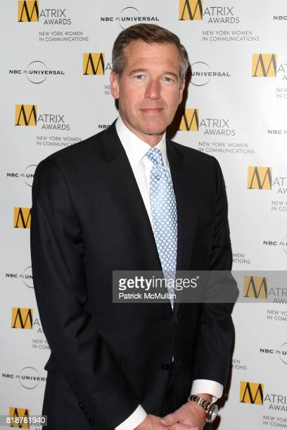 Brian Williams attends New York WOMEN IN COMMUNICATIONS Presents The 2010 MATRIX AWARDS at Waldorf Astoria on April 19 2010 in New York City