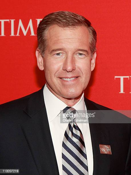 Brian Williams attends the 2011 TIME 100 gala at Frederick P Rose Hall Jazz at Lincoln Center on April 26 2011 in New York City