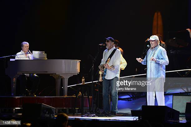 Brian Wilson David Marks and Mike Love of the Beach Boys perform on the The Beach Boys 50th Anniversary Tour at Hard Rock Live in the Seminole Hard...