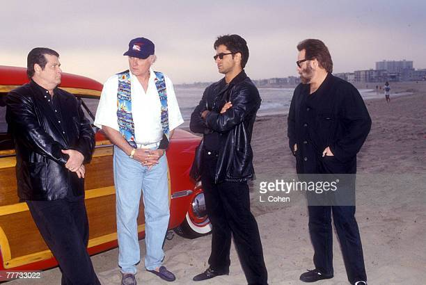 Brian Wilson Mike Love and Carl Wilson of The Beach Boys with John Stamos 1995