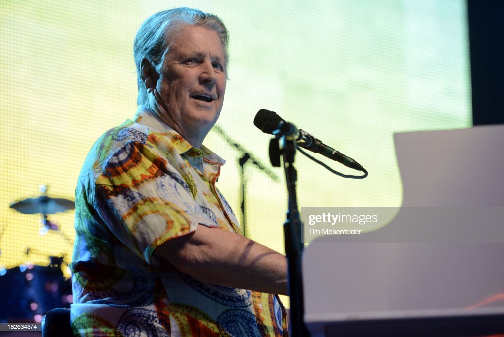 Brian Wilson of Brian Wilson and Jeff Beck performs at the Bayou Music Center on October 1, 2013 in Houston, Texas.