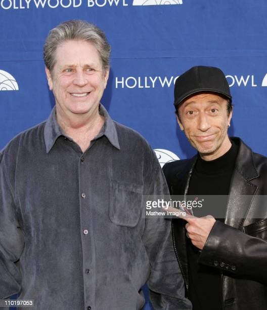 Brian Wilson of the Beach Boys and Robin Gibb of the Bee Gees both performed at the Hollywood Bowl Hall Of Fame Concert